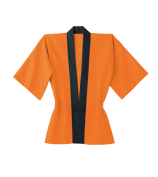 トロピカルハッピ(釦付き)【日本製】