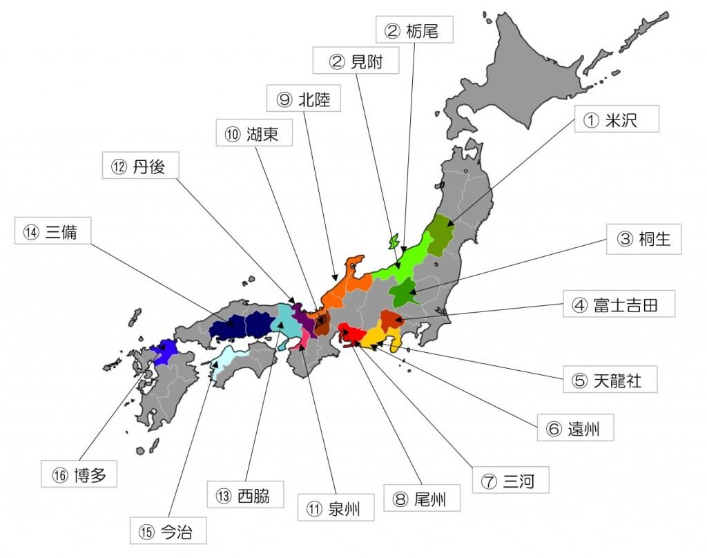 日本産地マップ